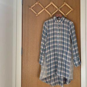 ANTHRO Saturday Sunday Plaid Sleep Shirt